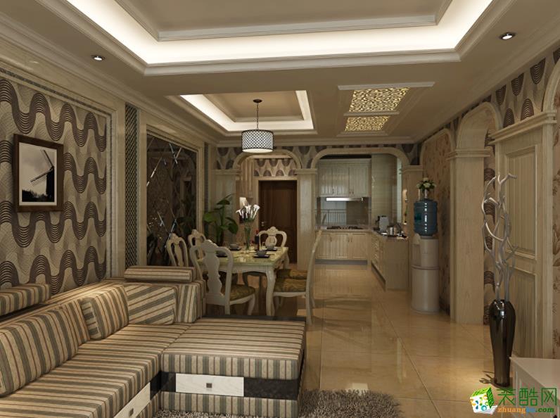 怀化年年红装饰-宏宇星城100平米三室欧式豪华装修效果图