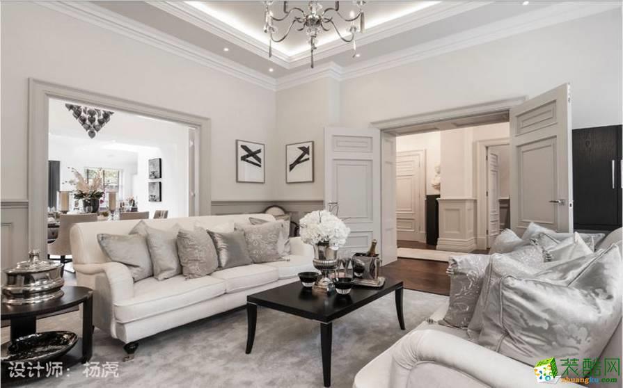 大足跃层住宅装修-160平米美式风格装修效果图-开源盛装装饰