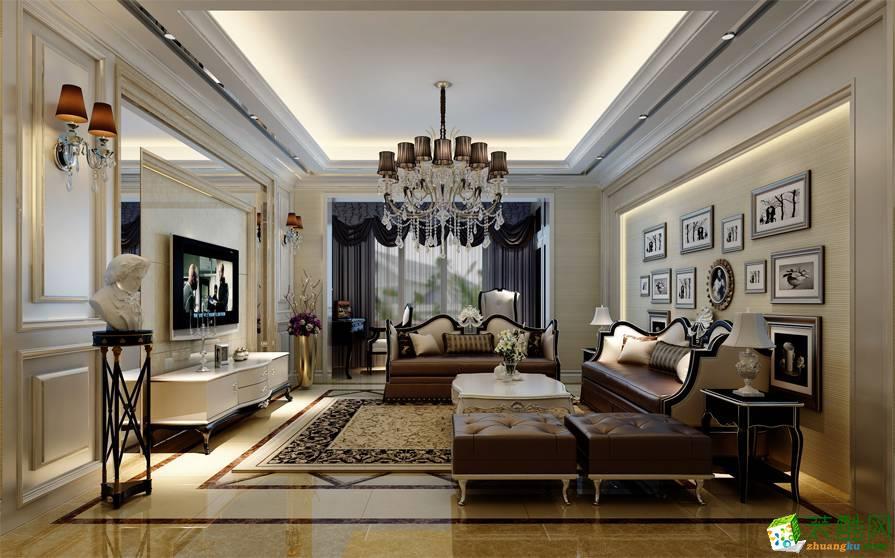 大足跃层住宅装修-200平米欧式风格装修效果图-开源盛装装饰