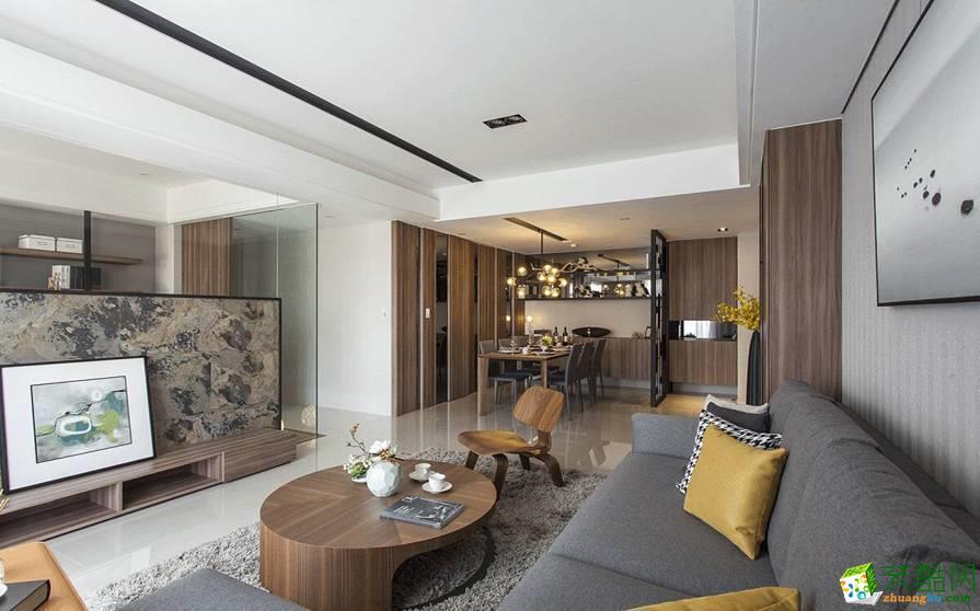 大足跃层住宅装修-150平米现代风格装修效果图-米典装饰