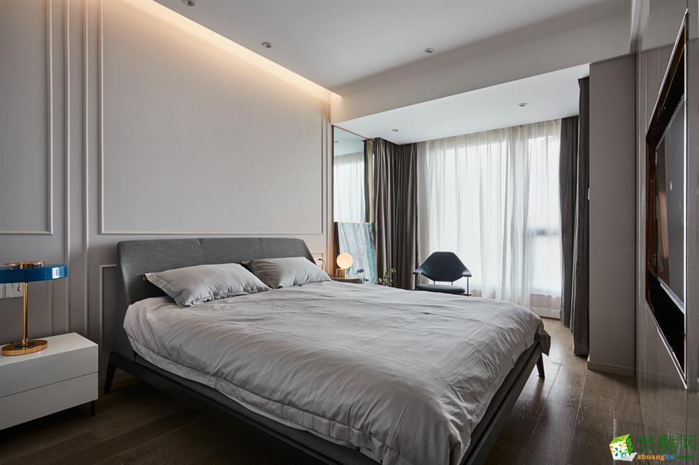 苏州122�O三室一厅简约风格设计效果图