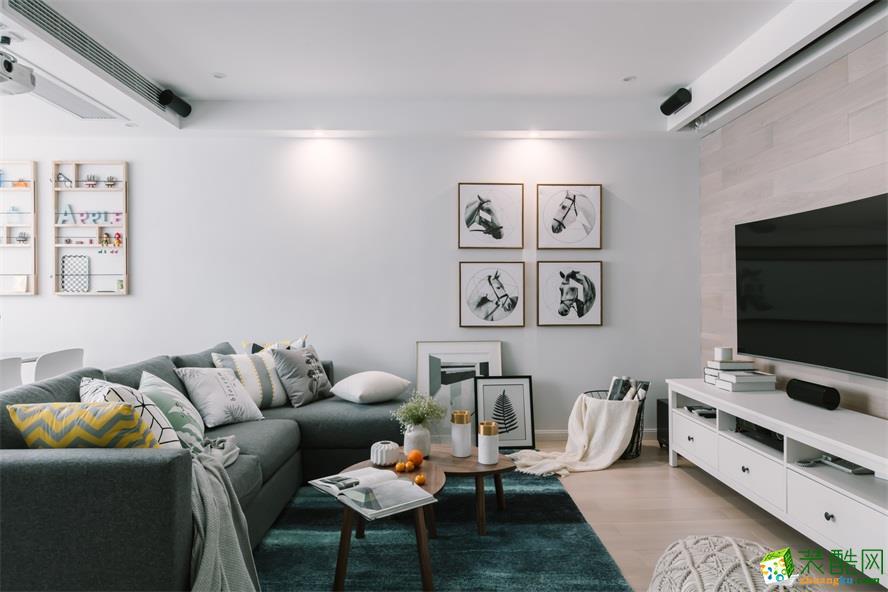 苏州90�O三室一厅一卫现代风格设计效果图