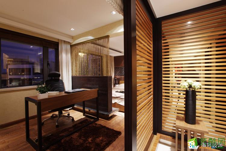 98平米三居室現代中式風格裝修效果圖