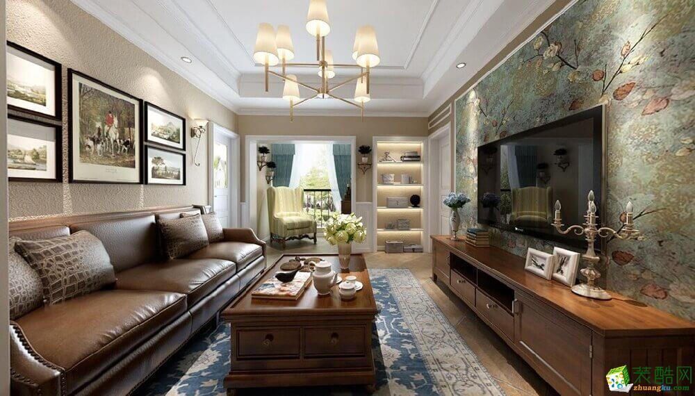 大足三室两厅装修-100平米美式风格装修效果图-鼎轩装饰