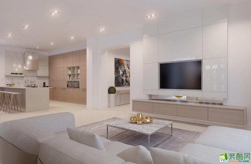 大足三室两厅装修-120平米北欧风格装修效果图-美的家装饰