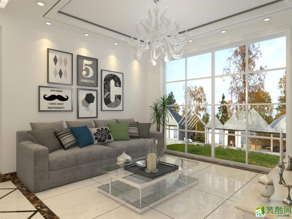 大足三室两厅装修-110平米简约风格装修效果图-美的家装饰