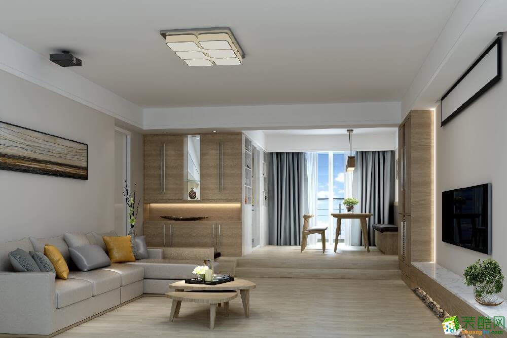 大足三室两厅装修-110平米现代风格装修效果图-美的家装饰