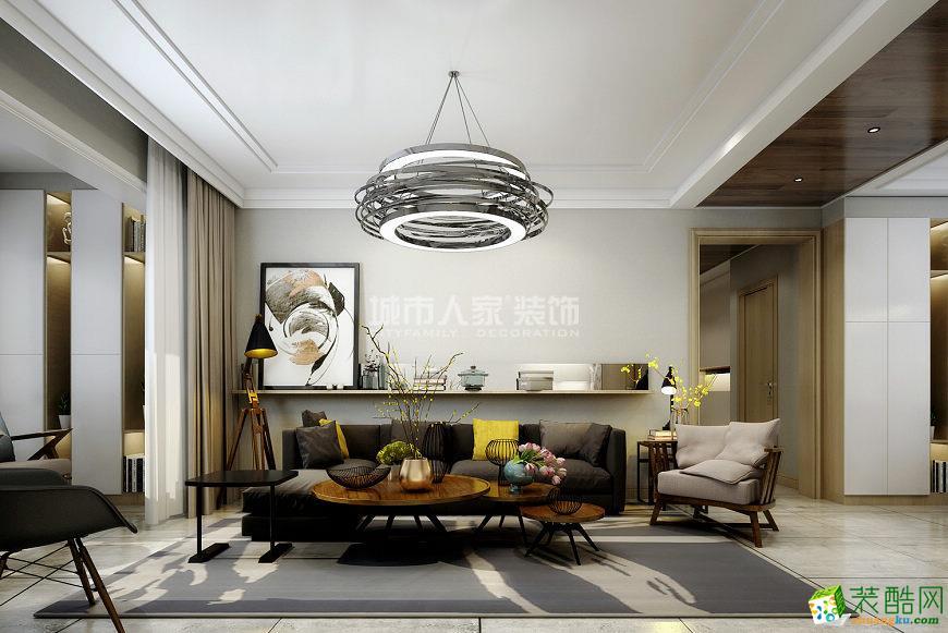 华远辰悦127平米现代简约风格装修案例效果图