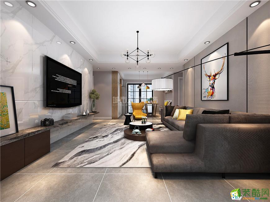 太乙城125平米三居室简约风格装修案例效果图