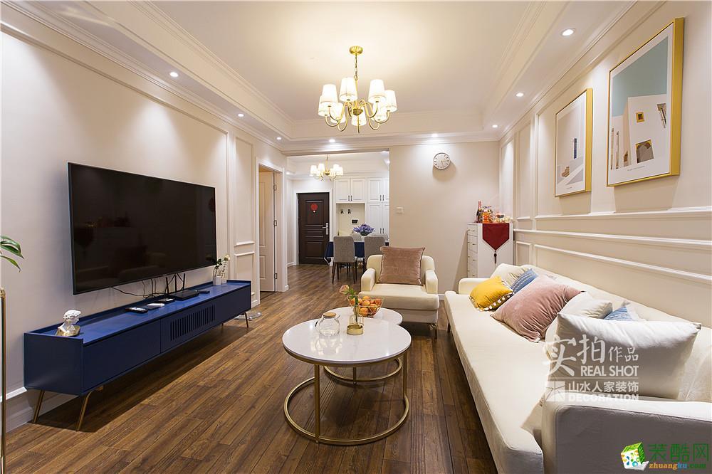 保利城94㎡三室一廳美式風格設計作品