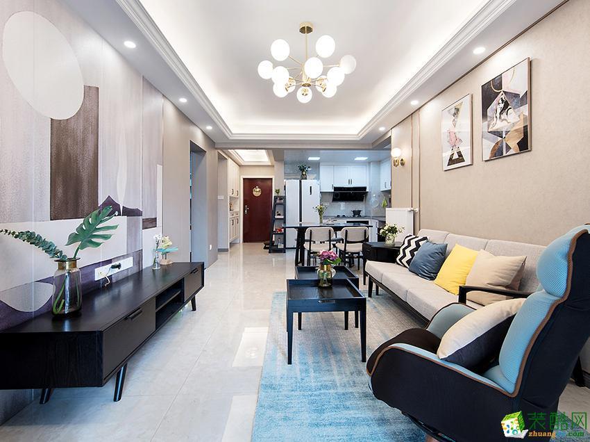 广电兰亭荣荟96�O三室一厅简约风格作品