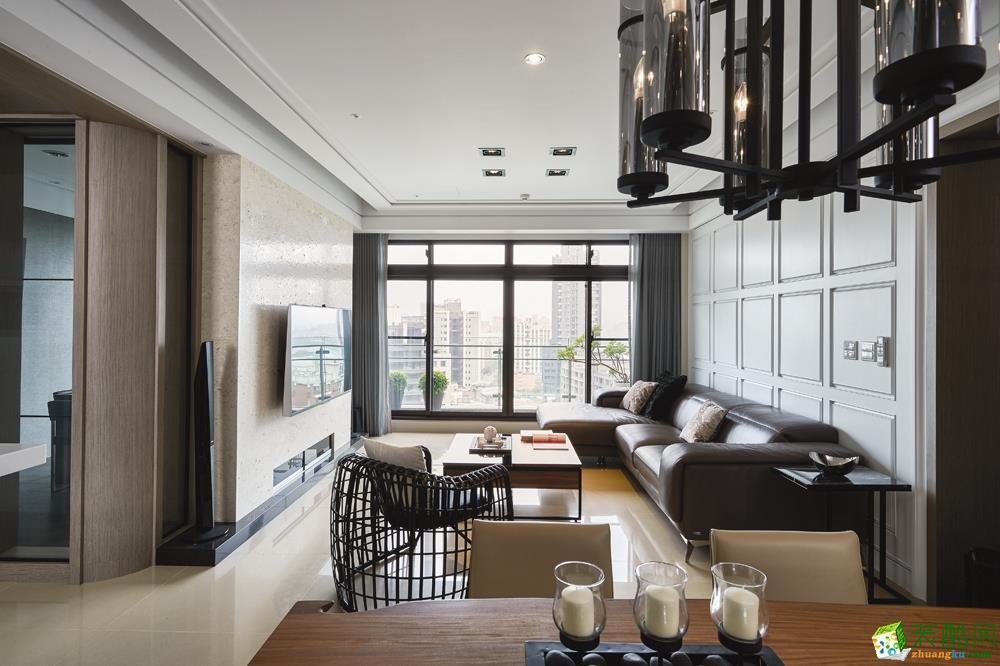 西城国际92�O三室一厅一卫现代风格设计作品