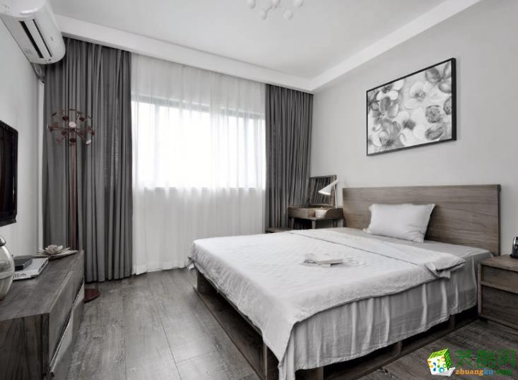 常州奇达装饰-95平米美式三居室装修案例