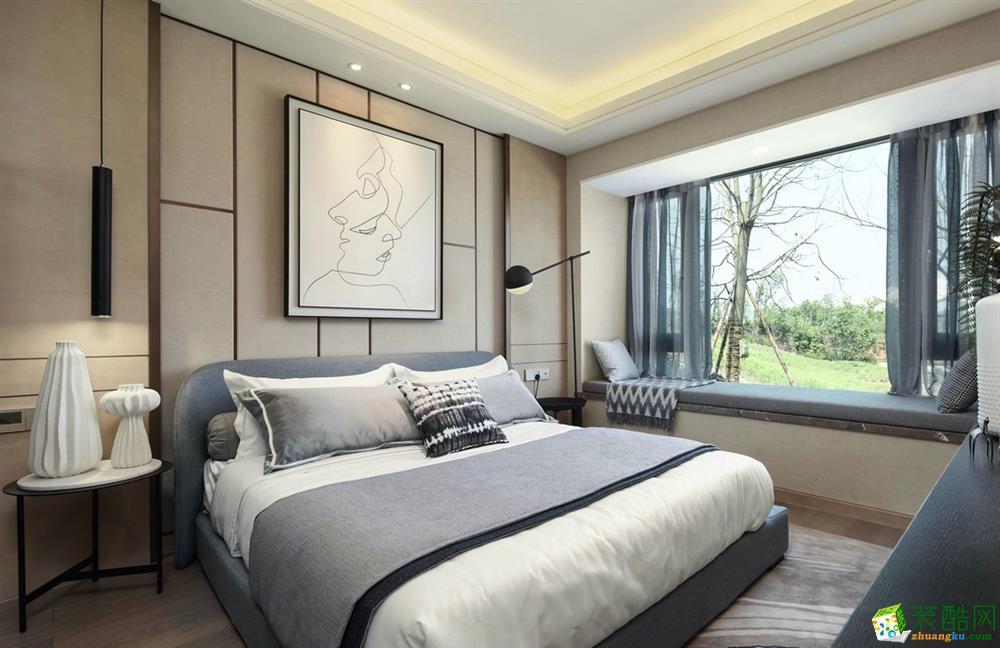 鄂州96�O三室一厅一卫简约风格装修设计效果图