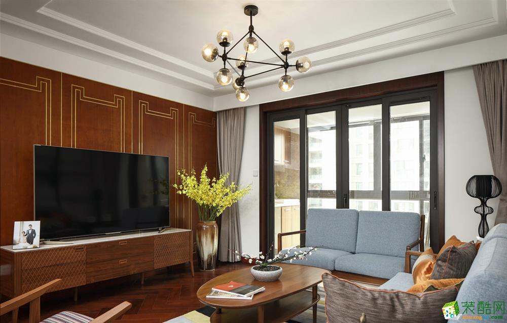 鄂州108�O三室一厅一卫新中式风格设计作品
