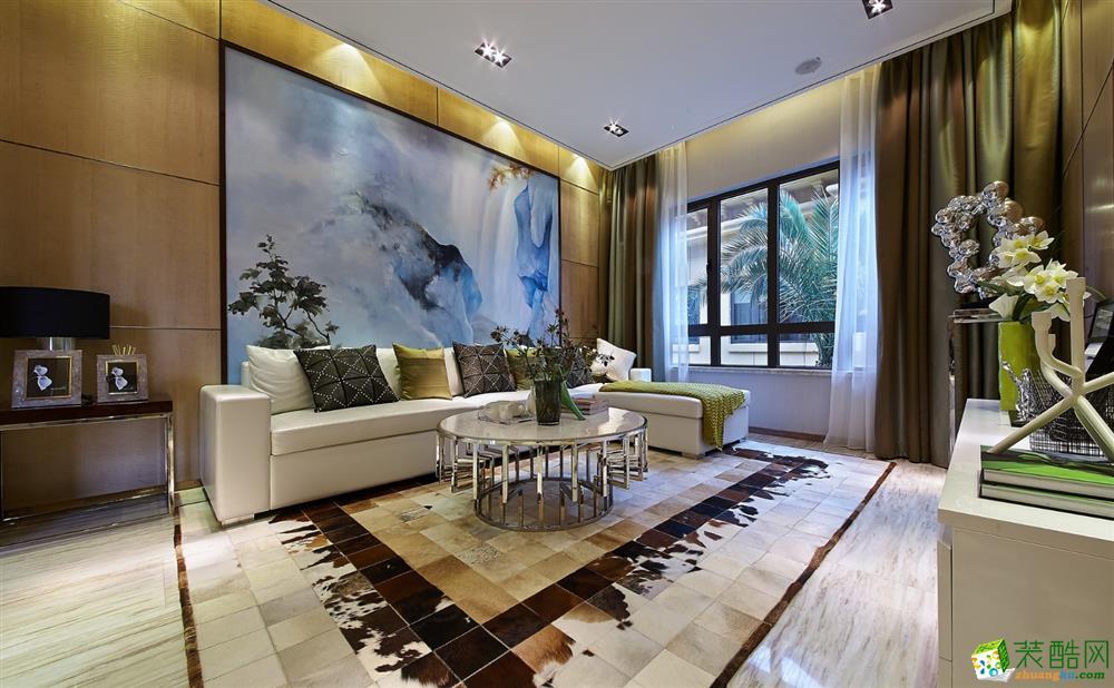 艾菲国际-现代简约-三室两厅一卫93平装修效果图