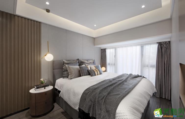 无锡水木清华装饰-100平米现代简约三居室装修案例