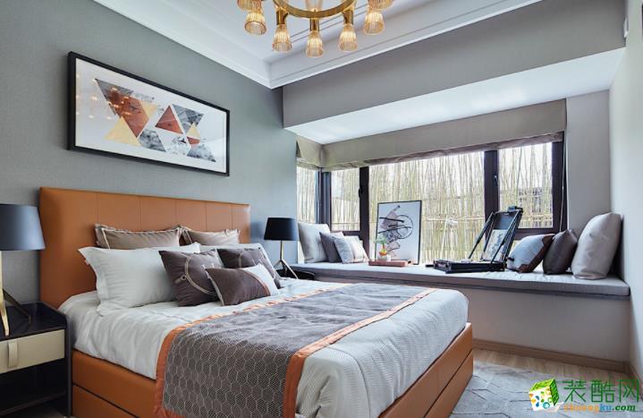 常州宏佳华装饰-115平米法式三居室装修案例