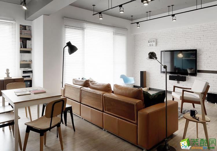 60平混搭风单身公寓装修效果图