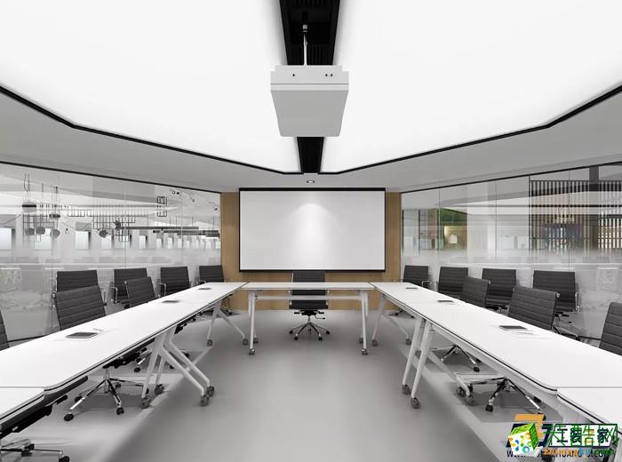 西安经典灰白色办公室装修案例