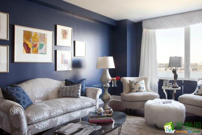 鲁班装饰-105㎡三居室经典现代风格装修案例