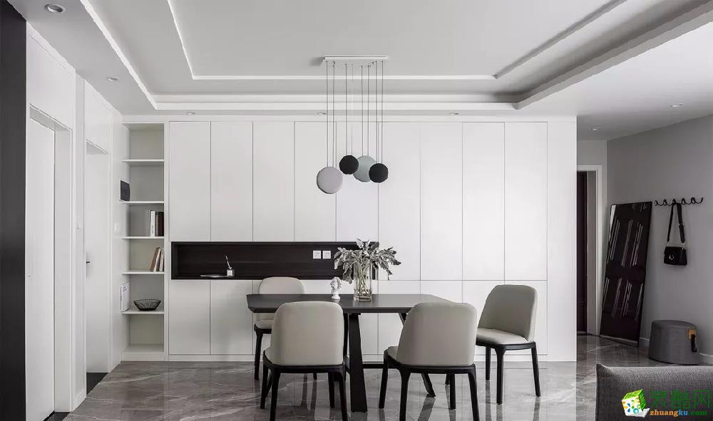 弦-117平方現代風,每一處都是視覺享受_現代風格-三室一廳一衛