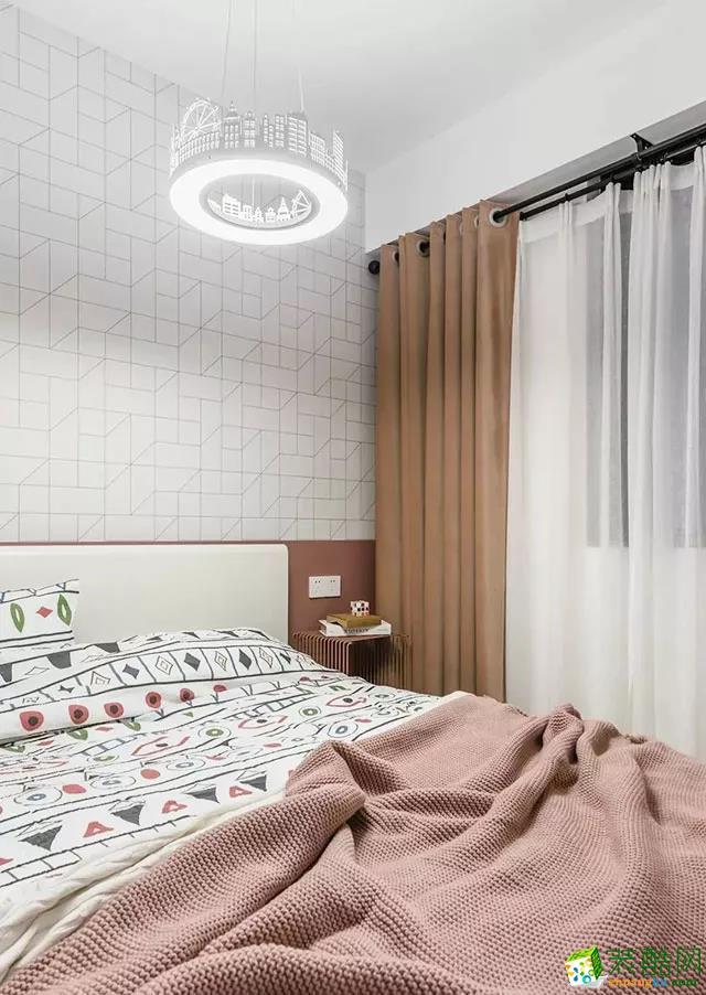 108平三室新房,儿童房的灯太梦幻