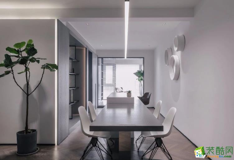 济南紫名都装饰-140平米简约四居室装修案例