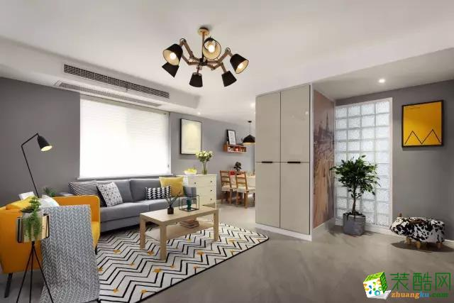 79平两居室简约装修,玄关美成画