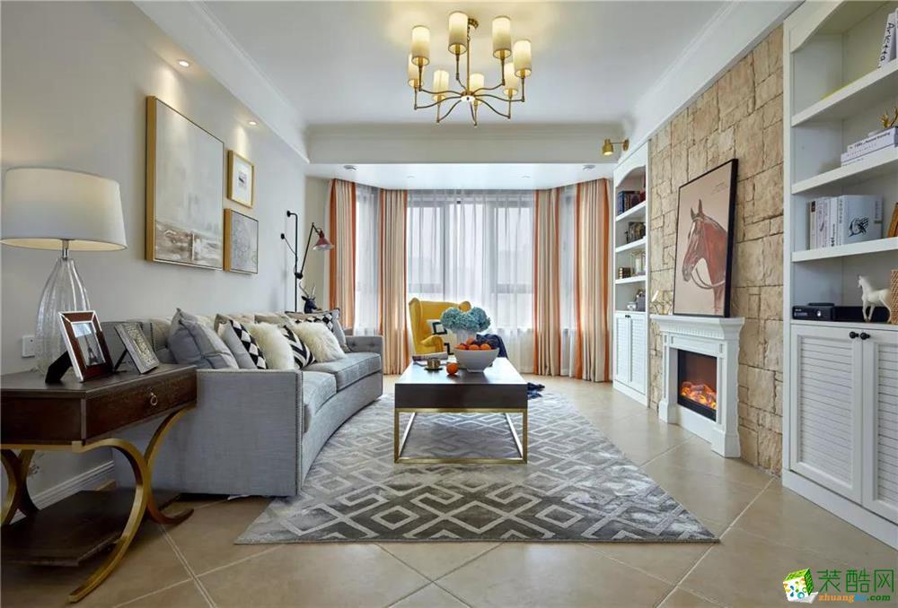 103平美式二居室,采光很棒收納足