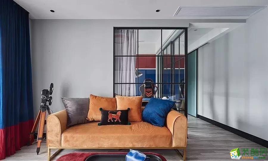 88平两居室~用色大胆,复古又精致