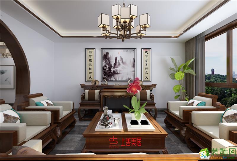 卓达玫瑰园400�O别墅中式风格装修效果图
