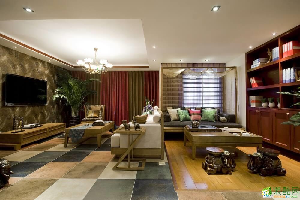 乌鲁木齐三居室装修-130平东南亚风格装修案例