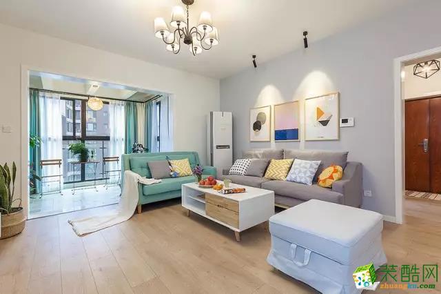 115平完美兩居室,陽臺設計很喜歡