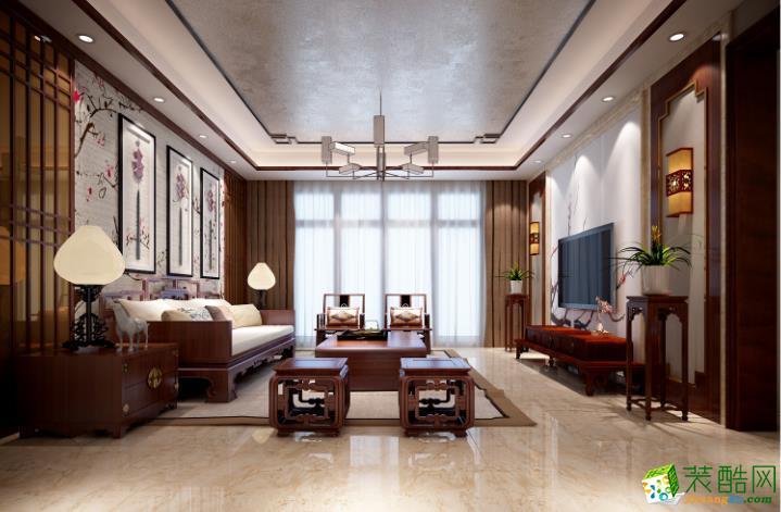 华浔品味装饰-103㎡-中式古典风格-三居室