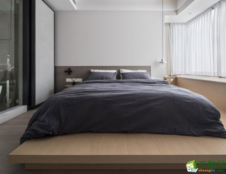 济南鸣凤装饰-120平米简约三居室装修案例