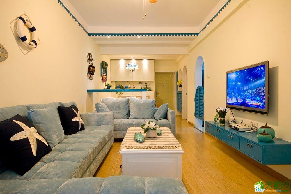 重庆旧房翻新案例-120平米地中海风格三居室翻新案例