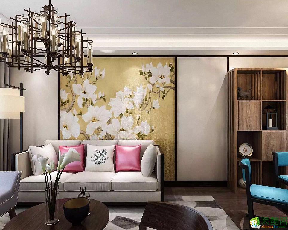 重庆旧房翻新-88平米中式风格翻新案例-柒色光装饰