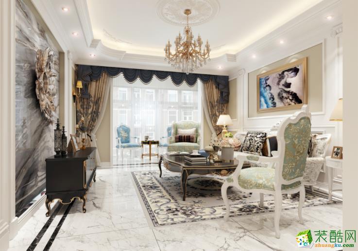 盛唐装饰-145平米浪漫法式风格装修案例