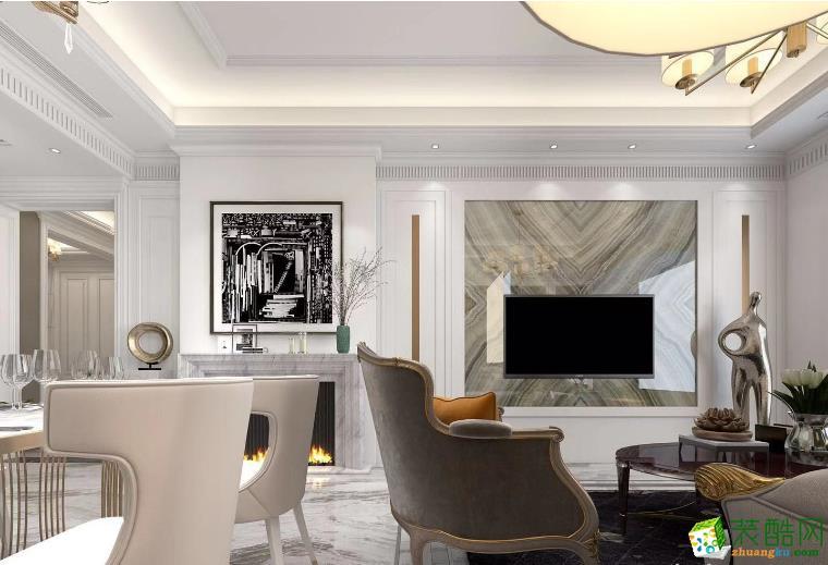 南昌美航裝飾-混搭三居室裝修效果圖