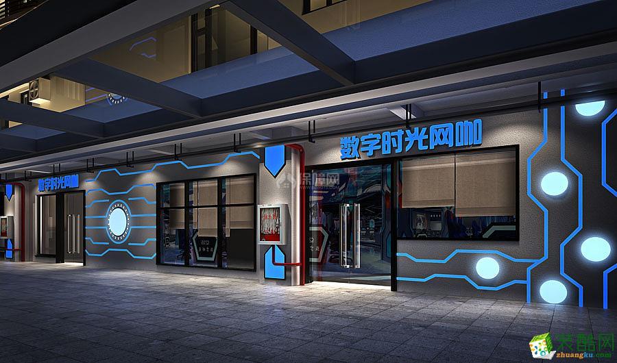 装酷网 装修效果图 山东淄博专业电竞主题网咖网吧装修设计公司 时尚