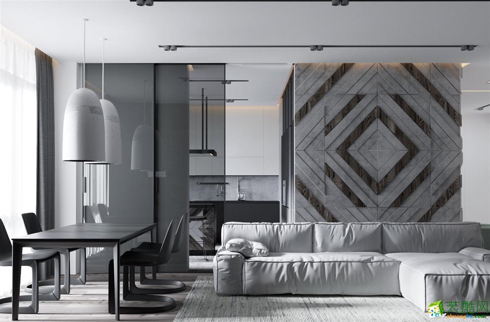 苏州岸木设计-湖滨四季别墅-现代风格-半包45万-设计五万