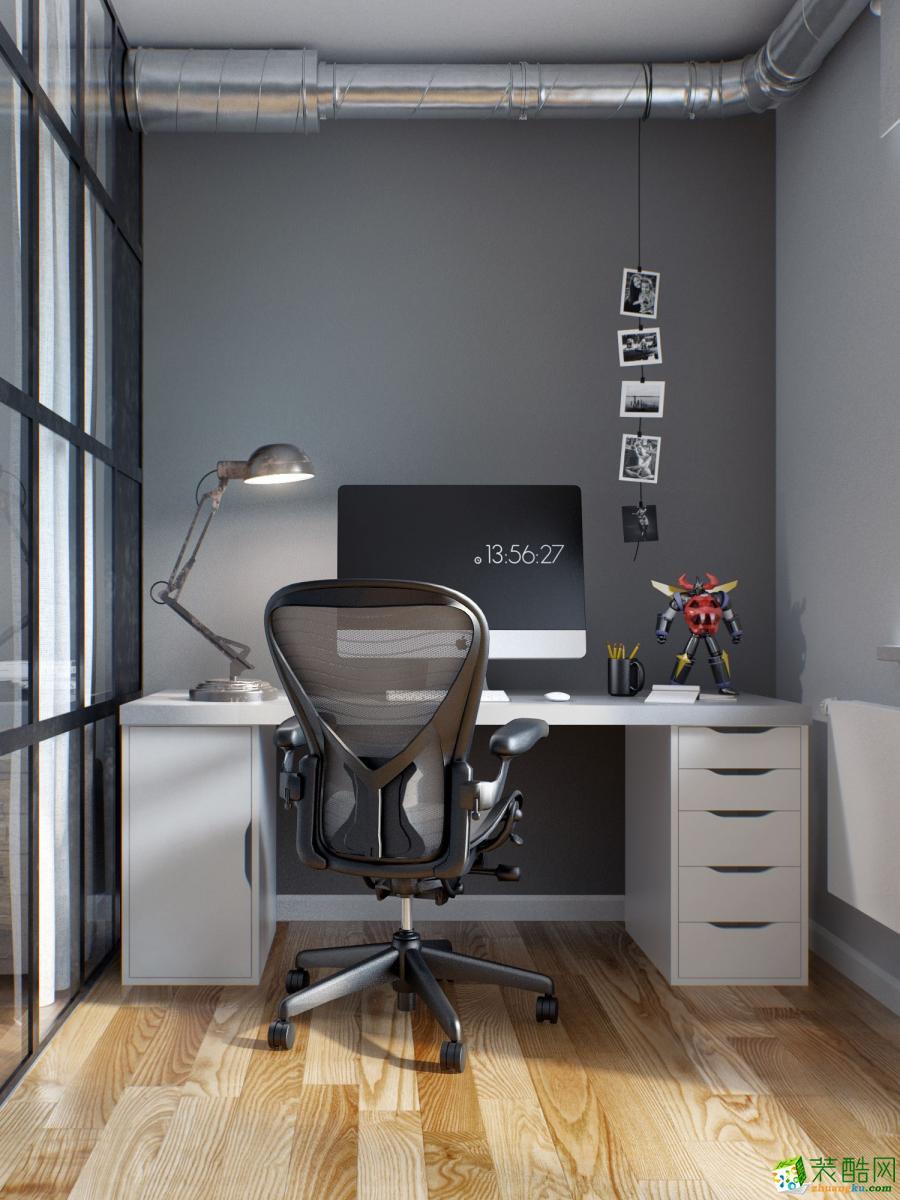 鑫鼎国际110平三室两厅一卫现代简约风格装修效果图