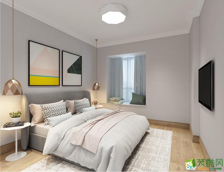 石家庄90平三室一厅一卫现代简约风格装修效果图