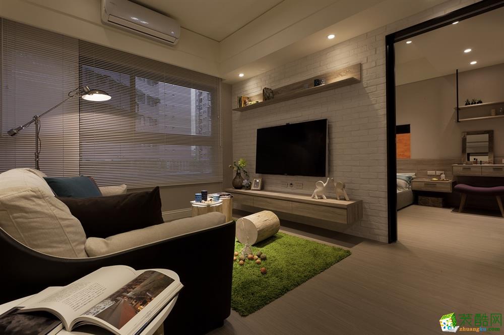 石家庄60平一室一厅一卫现代风格装修效果图