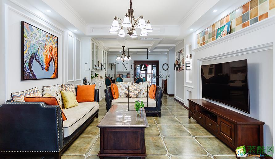 宜宾三室两厅装修-130平米现代风格装修案例图片-岚庭装饰