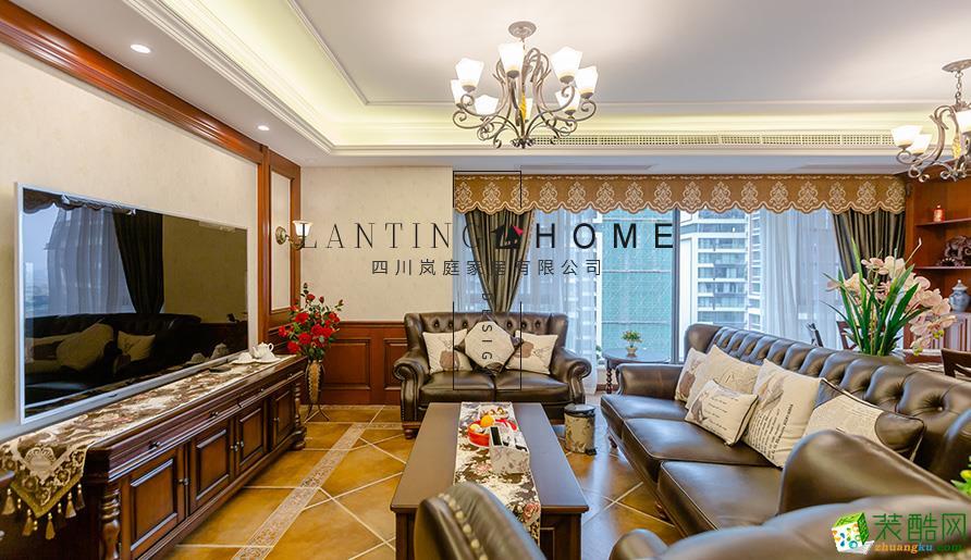 宜宾三居室装修-110平米简美风格装修案例图片-岚庭装饰