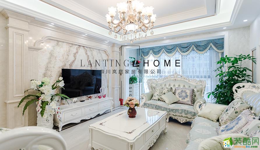 宜宾三居室 装修-156平米新中式风格装修案例图片-岚庭装饰