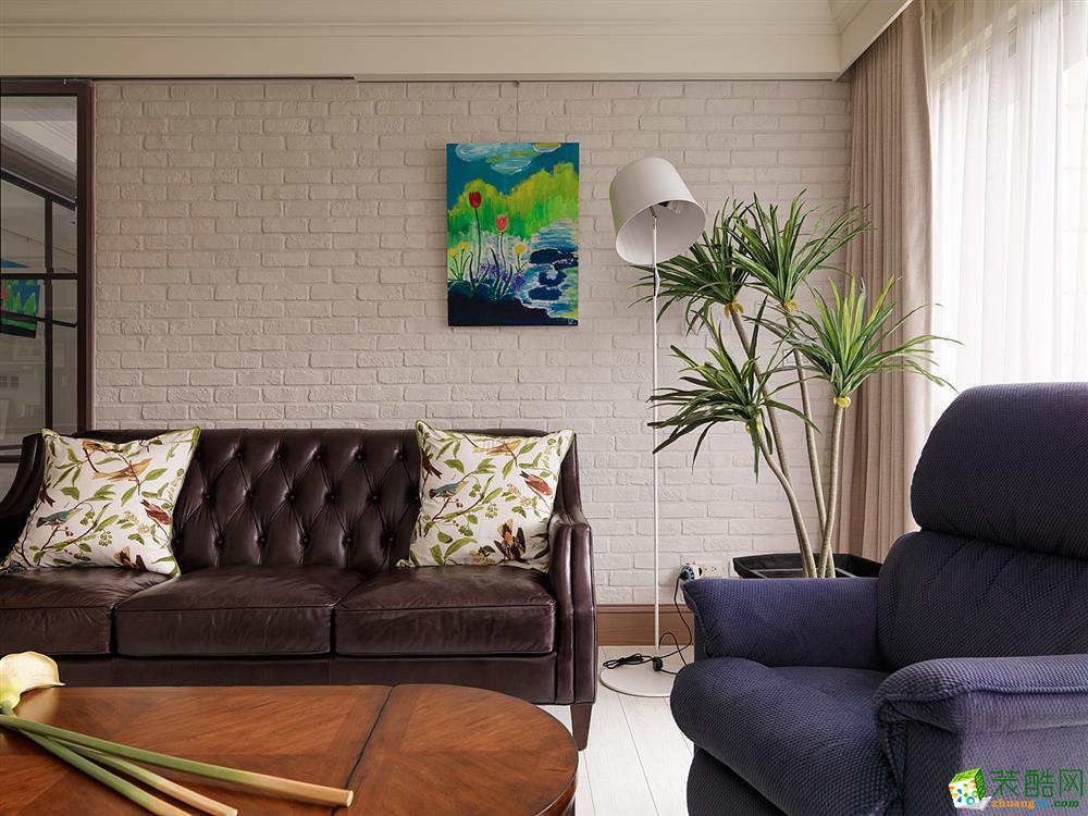 東易日盛-雅戈爾東湖馨園90平美式風格裝修效果圖