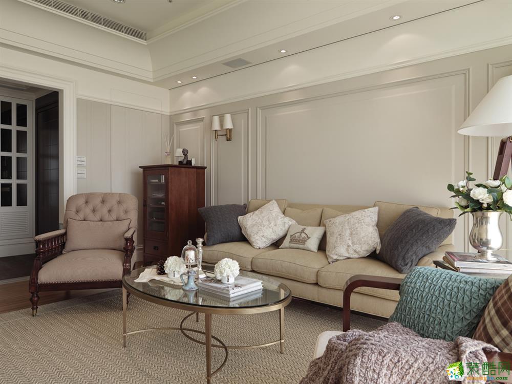 鼎象國際設計-如意金水灣107平美式風格裝修效果圖_美式風格-三室兩廳一衛